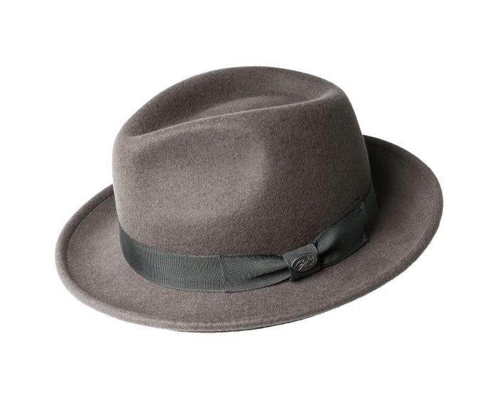 2873814fcce868 The Bailey of Hollywood Maglor is a classic, easy to wear, Fedora. This  classic fedora features a standed brim and is crafted out of a soft Wool  Felt body.