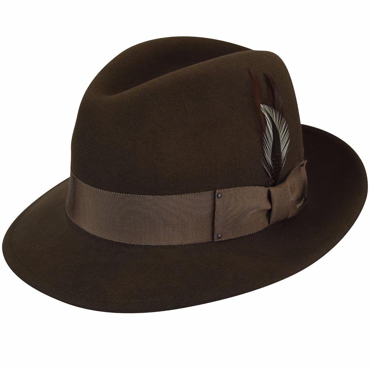 Bailey of Hollywood Blixen Wool Felt Fedora Hat Packable Water Repellent