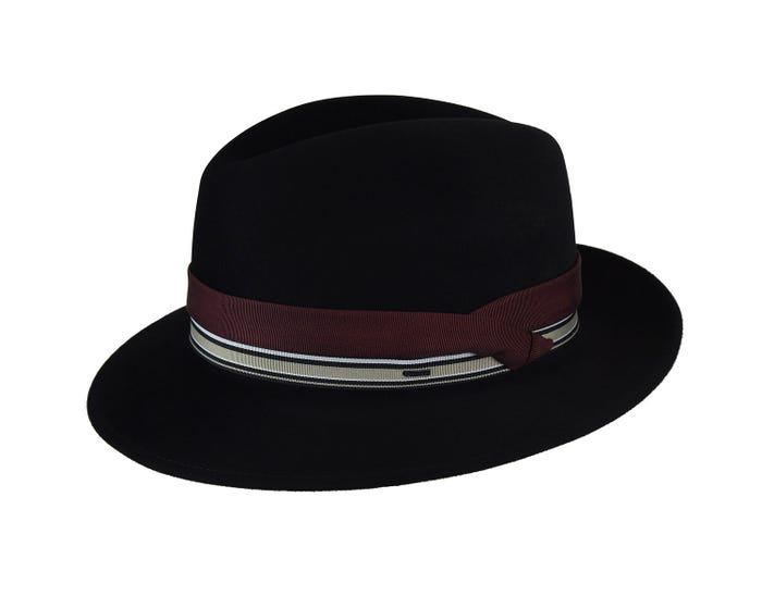 1cbce48956177 Rector is a classic Center Dent Crown Fedora paired with a 2 3 8