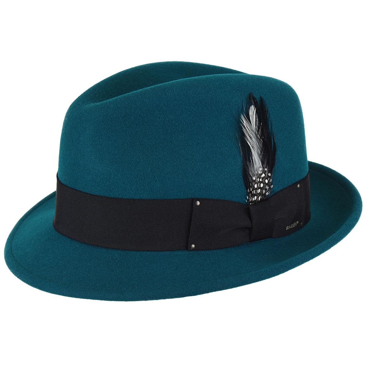 "Bailey Of Hollywood /""TINO/"" Men/'s LiteFelt NICE Wool Hat Fedora  Black Mix  XXL"
