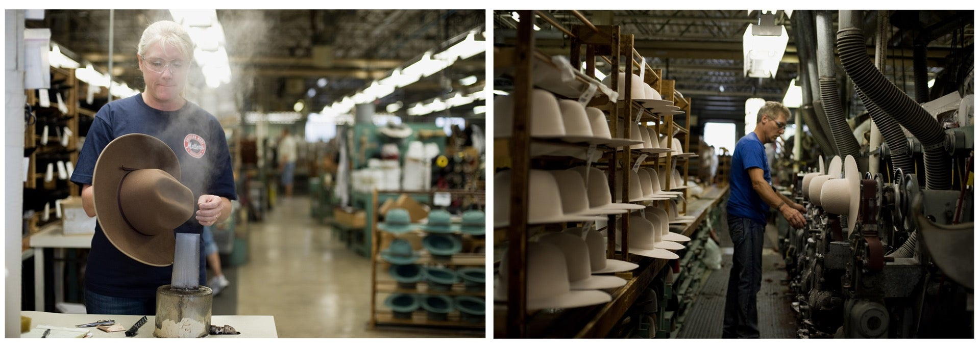 Finishing Hats at Bollman Hat Factory