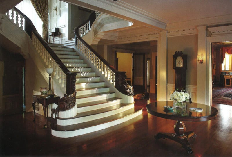 The majestic central staircase.