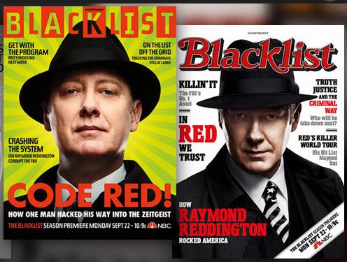 James Spader as Raymond Reddington from TV's Blacklist